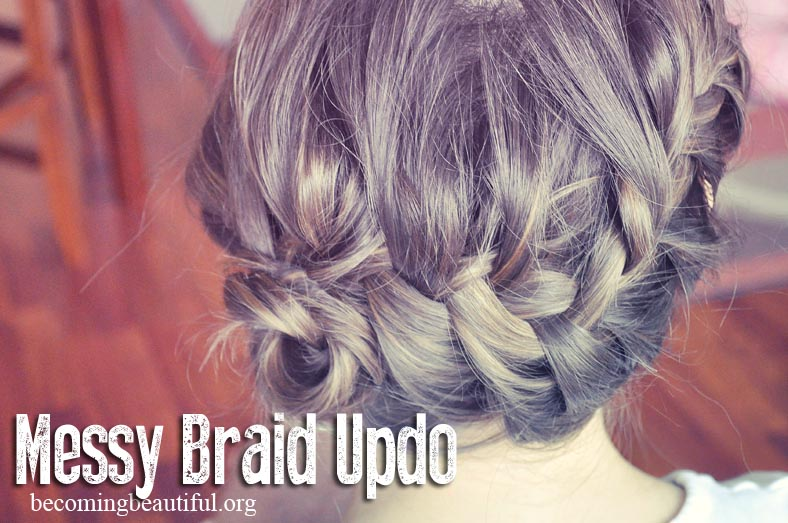 Messy Braid Updo
