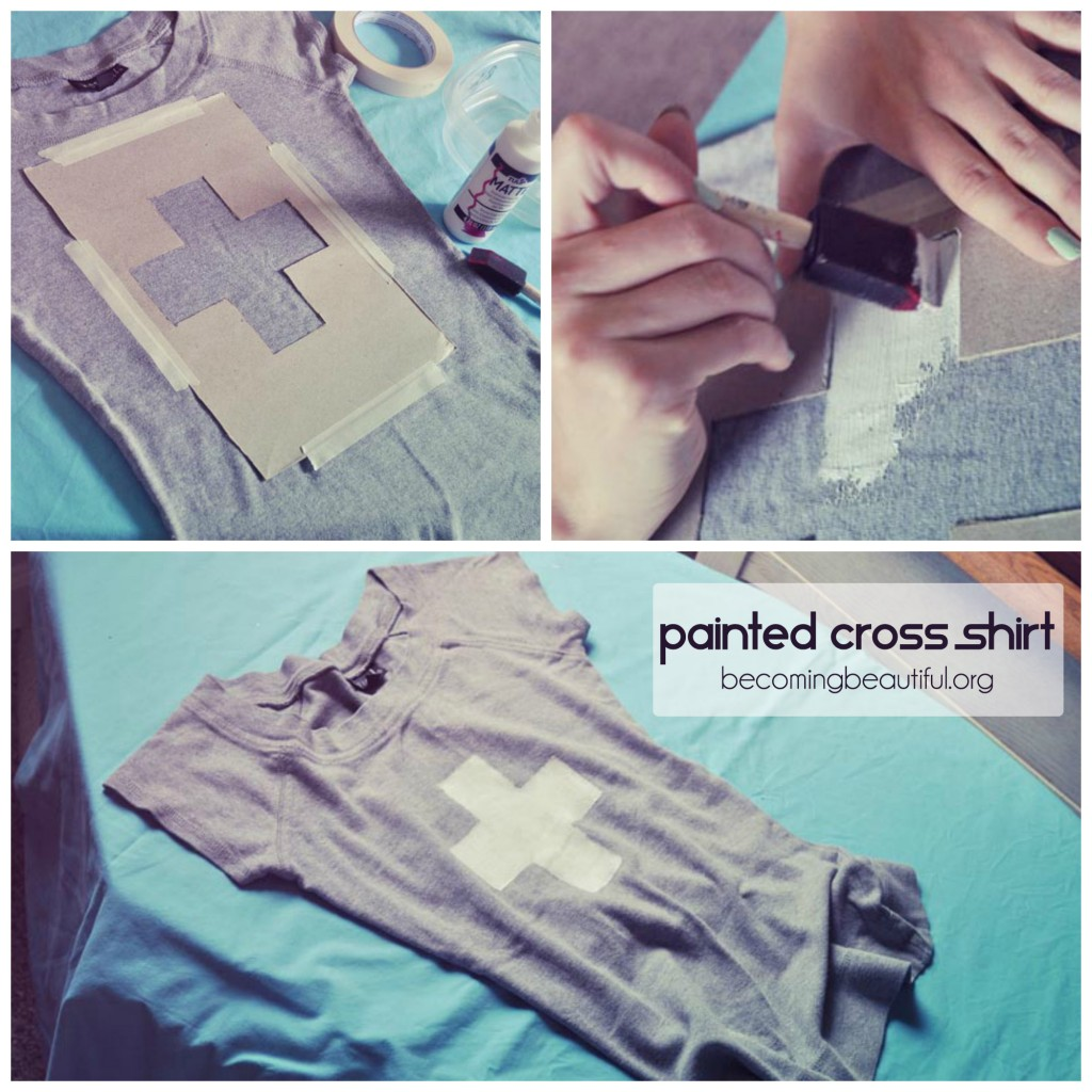 Painted Cross Shirt
