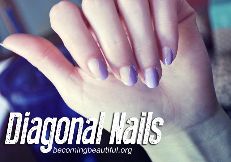 diagonal nails