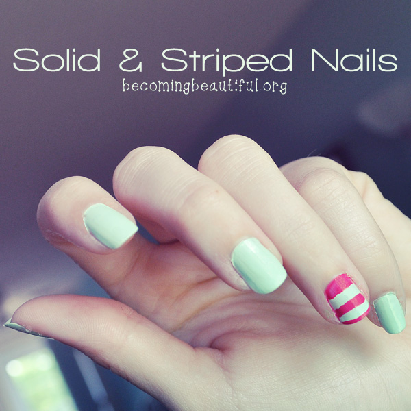 Striped & Solid Nails