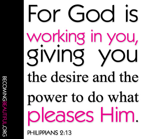 working in you