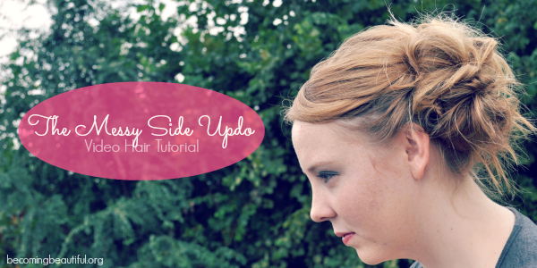 Messy Side Updo Tutorial
