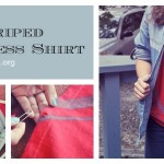 Look! We Did It: DIY Striped Strapless Shirt
