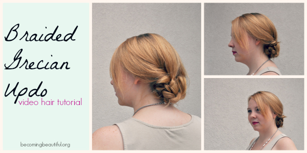 Braided Grecian Updo