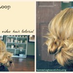 Loopty Loop Triple Ponytail Messy Bun