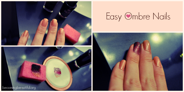 Easy Ombre Nails - Becomingbeautiful.org