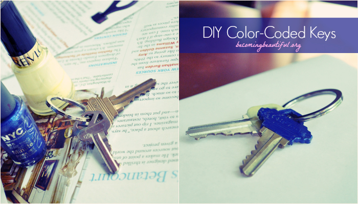 color-coded keys