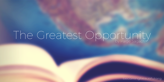 The Greatest Opportunity - Paige Sagach