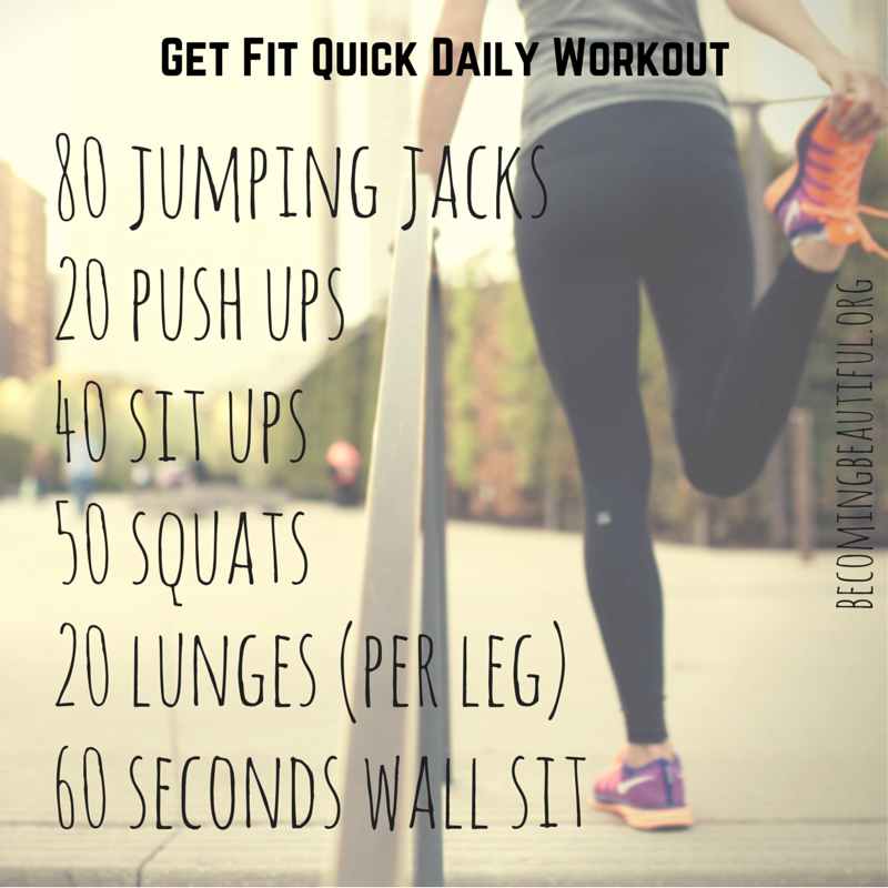 Get Fit Quick Daily Workout