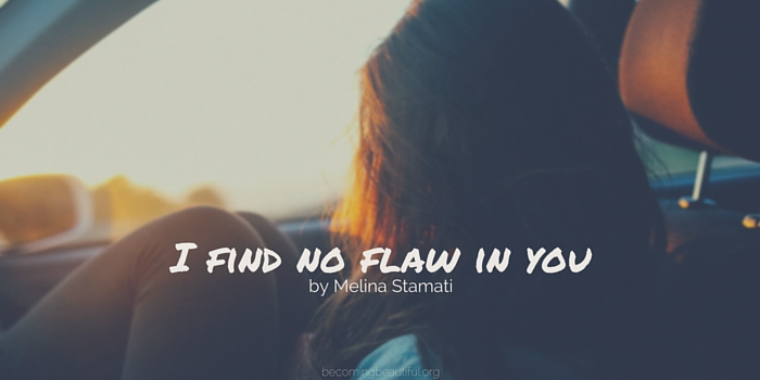 I find no flaw in you by Melina Stamati
