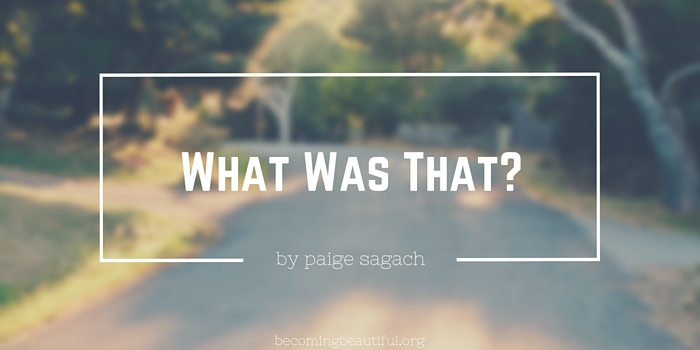 What Was That? by Paige Sagach